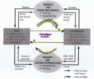 The Circular flow diagram and Corporate Social Responsibility (CSR)